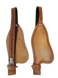 ROPING SADDLE FENDERS TOOLED LEATHER REPLACEMENT WESTERN TACK PLEASURE HORSE