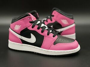 "Brand New Jordan 1 Mid ""Pinksicle/Pink/Black/White"" DS Size 6Y"