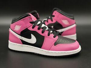 "Brand New Jordan 1 Mid ""Pinksicle/Pink/Black/White"" DS Size 5.5Y"