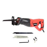 New Moss 230v Reciprocating Saw 900w INC 2 Blades Recip Metal Wood Cutting