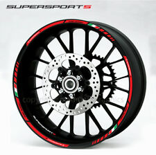 Ducati Supersport S motorcycle wheel decals rim stickers Laminated set red