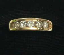 Diamond Band Ring by Camelot -size 10 14K Yellow Gold 1.00 Ct Channel-Set Round