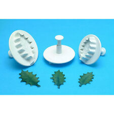 PME Veined Holly Leaf Plunger Cutters, Extra Large, Set of 3 Cutters