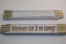 Zollstock mit SPRUCH - MEINER IST 2 METER LANG   Lasergravur  Handwerkerqualität