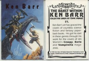 1994 KEN BARR THE BEAST WITHIN FOIL F5 CHASE CARD