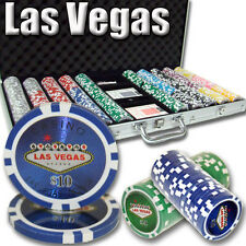 New 750 Las Vegas 14g Clay Poker Chips Set with Aluminum Case - Pick Chips!