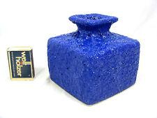"""70´s Design Argento Cardo Shiny Blue """"fat lava"""" in ceramica pottery vaso 8/20"""