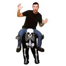 Adults Carry Me Skeleton Ride On Piggy Back Costume Mascot Halloween Fancy Dress