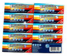 10 booklets x ELEMENTS 1 1/4 Ultra Thin RICE rolling paper + Magnetic Closure