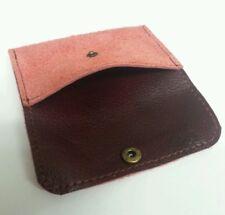 Carta di credito Vera Pelle Scamosciata Custodia/portafoglio, Business Card Holder con borchie donna.