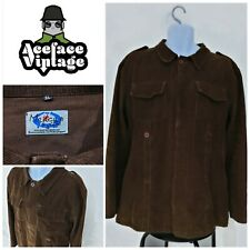 MENS MADCAP ENGLAND MOD STYLE CORDUROY SHIRT/JACKET SIZE XL BROWN SOFT TOUCH
