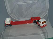 SIKU TOYS GERMANY MAN 1150 LOW LOADER TRUCK & TRAILER NO MIRRORS IN USED !!!
