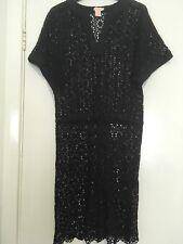 COLLETTE DINNIGAN navy lace dress XS