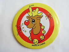 Cute Vintage Rudolph The Red Nose Reindeer Christmas Holiday Pinback