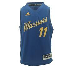 Golden State Warriors Youth Size Klay Thompson Adidas Swingman Jersey +2