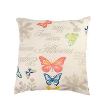 LUXURY HEAVY WEIGHT FABRIC Cotton Cushion Covers RETRO FLORAL Vintage BUTTERFLY