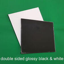 3mm Alucobond Glossy Black and White A1 size Alumunium Composite Sheet Panel