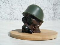 Gebaut Modelle im Maßstab 1/6 Steampunk Soldaten Kopf Helm Gasmaske