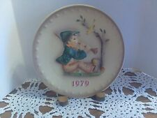 """1979  Hand Painted Hummel """"Singing Lesson"""" Collector's Plate by Goebel"""