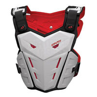 EVS Mx Gear F1 Adult Body Armour White Motocross Dirt Bike Chest Protector