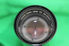 Canon FD Zoom 1:5.6 100mm-200mm Vintage Camera Lens & Case Made in Japan