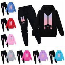 BTS Kinder Mädchen Hoodie + Hose Jungen Kapuzenpullover Sweatshirt Sportanzug