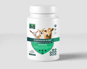 Albendahelm 500 Dewormer For Dogs 100 Tabs Anthelmintic Panacur Tapeworm