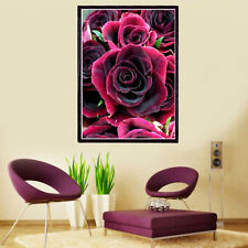 ROSE Drill DIY 5D Diamond Painting Embroidery Cross Stitch Kit Wall Decor NEW