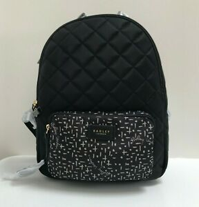 Radley Backpack Hilly Fields medium Black quilted