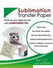 50 Sheets Sublimation Ink Transfer Paper 85x11 A4 Epson All Inkjet Printers