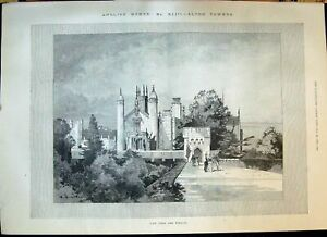 Old 1898 Alton Towers England Architecture Humber Cycle Henry Moore C Victorian