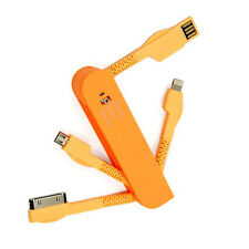3in1 Data USB Charging Sync Cable Lead For Sony LG HTC Motorola iPad iPod Orange