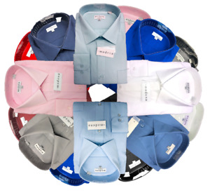 "Men's Solid Color Dress Shirts from Modena - 18"", 18 1/2"" & 19"" neck"