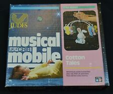 Vintage Judi's Musical Crib Mobile Cotton Tales Bunny Rabbit Baby Butterflies