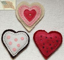 felt food play toys COOKIES VALENTINE B 1 3 HEART 1 BEADS 1 PINK DOT kid pretend