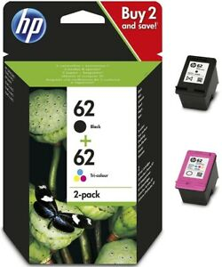 GENUINE HP 62 Black & Tri-Colour Inks Combo for HP ENVY & OfficeJet Printers
