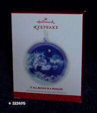 2013 Hallmark IT ALL BEGAN IN A MANGER Baby Jesus Star Glass Keepsake Ornament