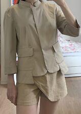 APRIORI By Escada Jacke Blazer Trenchcoat Mantel DE 42 Beige Baumwolle