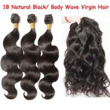 300g Brazilian Body Wave Virgin Hair Weft 3 Bundles Human Hair Weave Extensions