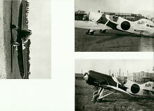 "SET OF 3: GEE BEE LOT #42 - 4"" X 6"" BLACK & WHITE AIRPLANE PRINTS"