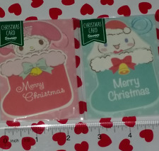 NEW SANRIO NIP My Melody + Cinnamoroll Mini Merry Christmas Cards!