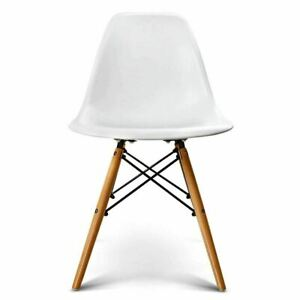 Modern Style Set Of 4 Eiffel Dining Plastic Wooden Chair (Office, Home , Living)