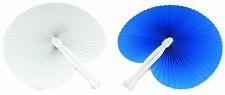 100 pezzi Ventagli 50 bianchi 50 blu bomboniera per matrimoni,comunioni,feste