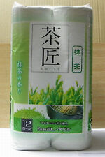 Green toilet paper 12 rolls -- fragrance like in forest / light green color