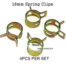4pcs 16mm Steel Band Scooter ATV Fuel Line Hose Tubing Spring Clips Clamps