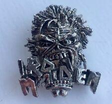 Vintage Iron Maiden Eddie Crunch Pin Badge, Bruce Dickinson, Heavy Metal Alchemy