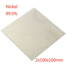 Nickel Ni 99.5% Sheet Plate For Electroplating Anode 2x100x100mm Element AU Ship