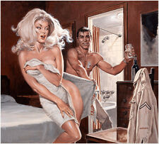 "Vintage Pin Up  Illustration Art ""Tonight's Wife"" 12 x 12""  Photo Print"
