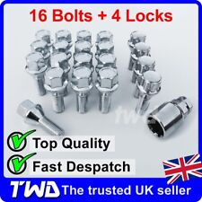 20x ALLOY WHEEL BOLTS & LOCKS FOR VAUXHALL OPEL VIVARO (2001+) 19MM NUTS [Z4b]