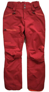 MARMOT Womens Refuge Snowboarding Ski Pants Waterproof Red 76400 NWT SMALL